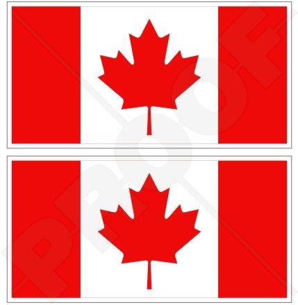 Kanada kanadische Flagge Ahornblatt 7,6cm (75mm) Bumper Sticker, Aufkleber Vinyl X2