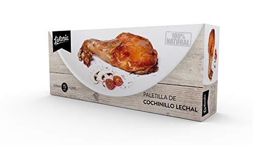 LIVANIA - Paletilla de cochinillo LECHAL 800g. Cocinada a baja temperatura, en su jugo, lista para dorar.