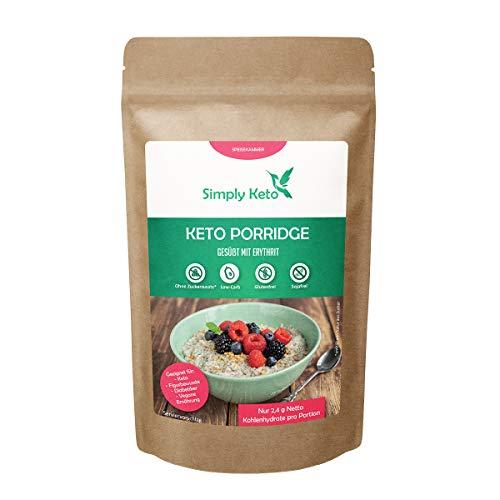 Simply Keto | Porridge | nur 1,3% verwertbare Kohlenhydrate * | 100% Keto, Glutenfrei, Paleo, Low Carb