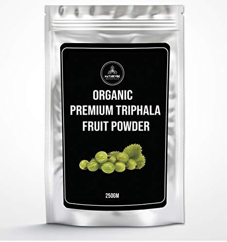 Naturevibe Botanicals Organic Premium Triphala Fruit Powder (250g) | Blend of Amla, Haritaki & Bibhitaki
