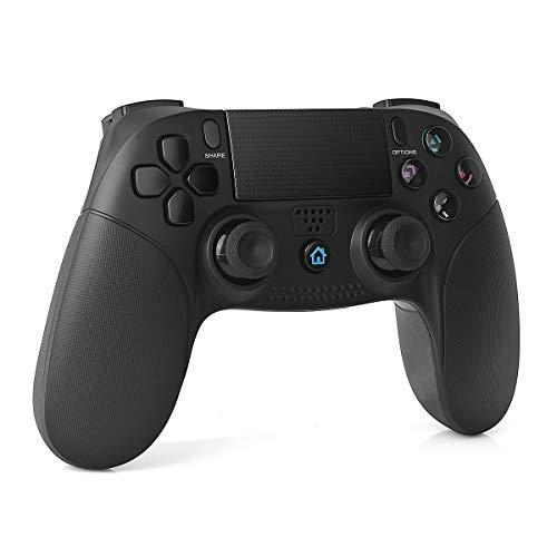 TUTUO Manette pour PS4, Bluetooth Vibration Feedback Manette de Jeu avec USB Rechargeable, Contrôleur de Jeu sans Fil Wireless Gamepad pour Playstation 4/PS4 Slim/PS4 Pro/PS3/PC(Windows 7/8 / 10)