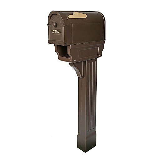 Postal Pro All-in-One Mailboxes and Post Combo Kit in Bronze