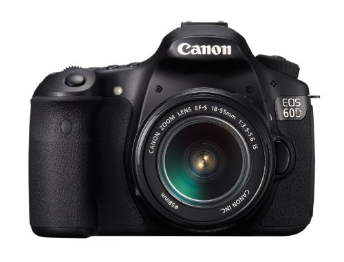 Canon EOS 60D SLR-Digitalkamera (18 Megapixel, 7,7 cm (3 Zoll) Live-View, Full-HD Movie, bildstabilisiert) Kit inkl. EF-S 18-55 IS II Objektiv schwarz