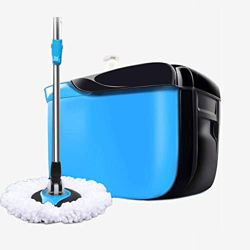 Xiaoyue Küche + Home Waschen und Trocknen Mop - Selbstreinig Flachmophalter und Bucket-System mit 2 wiederverwendbaren Mikrofaser-Mopp-Auflagen for Wet Dry Mops alle Bodenoberflächen lalay