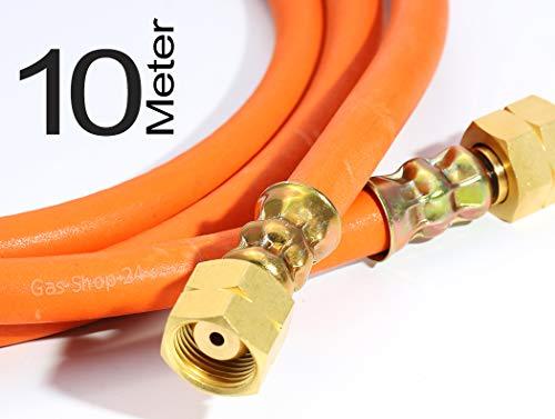 Hochdruck HD Gasschlauch 10 m (1000 cm) 3/8 Zoll Gas-Schlauch Gasbrenner, Aufschweißbrenner, Industrie, Gewerbe, Straßenbau, Dachdecker Propan Schlauch