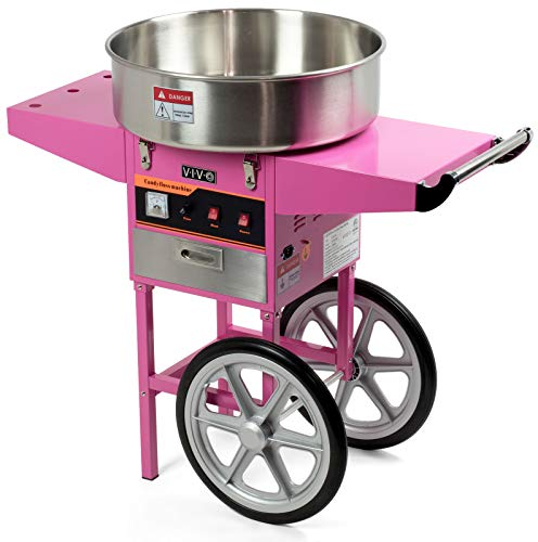 Commercial Cotton Candy Cones Spinning Machine Party Enjoy Easily Create Carnival Sugar Sweet Floss Maker W/Cart Suitable Party, Events, Booth, Family