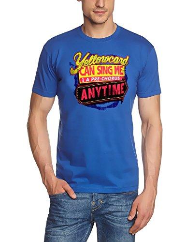 Coole-Fun-T-Shirts T-Shirt Yellowcard - Punk, blau, L, FT133