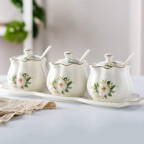 Max 78% OFF ZZWZM Ceramic Seasoning Jar Kitchenware Outstanding Combination Se Household
