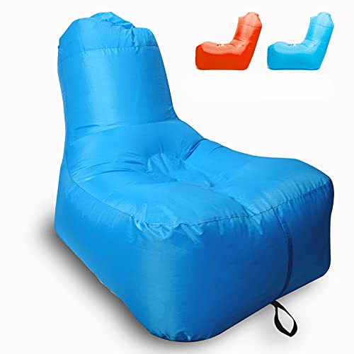 PREMKID Inflatable Lounger Air Chair Beach Chair Water Proof Pool Chair Poor Lounger Chair Camping Sports Festival Gift Carry Bag Portable Light Indoor and Outdoor Backyard Blue