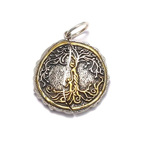 Pendentif arbre de vie en argent 925, amulette mère et enfant, souvenir, gravure secrète pour la famille