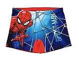 Spiderman Bañador para Niños, Slip Cortos de Natación Infantil, Bañador Transpirable Secado Rápido, Color Rojo, Talla 6 Años