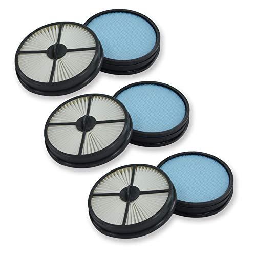 PUREBURG - Juego de 3 filtros de repuesto para 3 filtros primarios + 3 filtros de aire HEPA compatibles con Hoover Air Lite sin bolsa, multiciclónico, ligero al vacío vertical UH72460 440005515 440005516