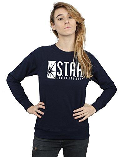 DC Comics Women's The Flash STAR Labs Sweatshirt, Black, Small