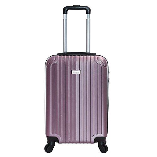 Slimbridge bagaglio a mano dura valigia rigida 55 cm 2,5 kg 35 litri con 4 ruote robuste e numero di blocco, Borba Oro Rosa