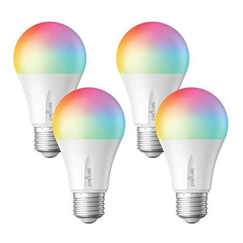 Sengled Smart LED Multicolor Bulb, Hub Required, RGBW Color & Tunable White 2000-6500K, A19 60W Equivalent, Works with Alexa, Google Assistant & SmartThings, 4 Pack