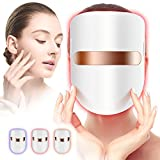 Yofuly USB LED Face Light Therapy Mask, 3 Colours Red, Blue and Orange Skin Wrinkle Face Skin Care for Salon...