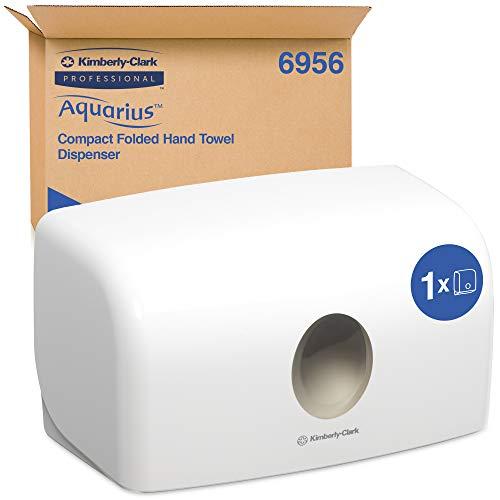 Aquarius 06956000 6956 Dispensador de Toallas de Papel MultiFold, Montaje en Pared, Hoja a Hoja, Color: Blanco