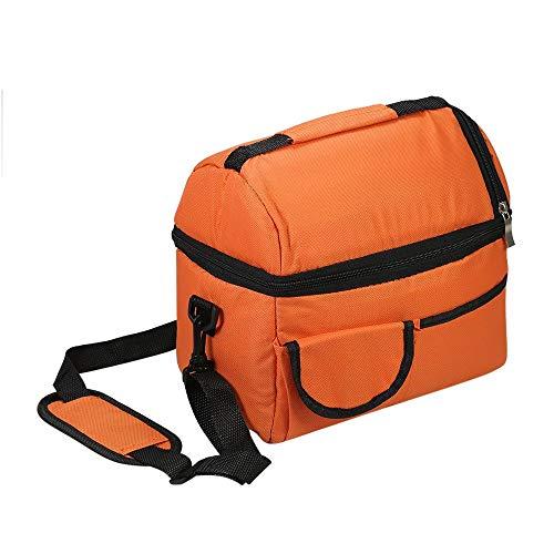 Apark Kühltasche Groß faltbar Kühlkorb Kühlbox Isoliertasche Thermotasche Picknicktasche für Lebensmitteltransport, mit Schulterriemen, Wiederverwendbare Wasserdichte Kühlbox - 8L (Orange)