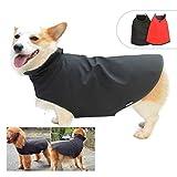 Lovelonglong - Chaqueta impermeable para perro, forro polar, para invierno, impermeable, cálido, ajustable, para lluvia, nieve, para perros pequeños, medianos y grandes, color negro