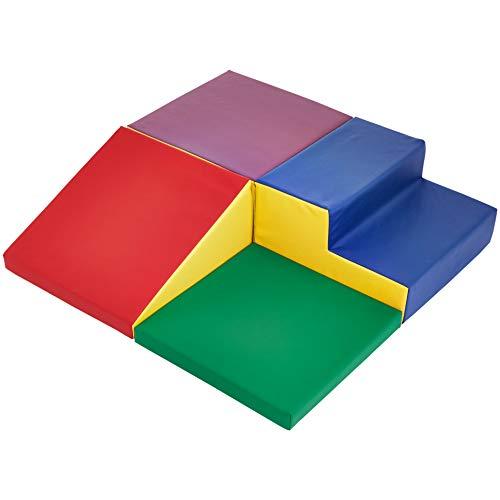 Amazon Basics Kids Soft Play Corner Climber, 4-Piece