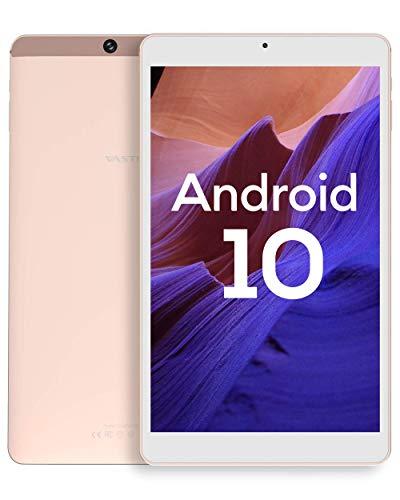 Android 10.0 タブレット、Vastking SA8 Octa-Coreプロセッサー、3GB RAM、32GB ストレージ、8インチAndroid タブレット、1200x1920 IPS、5G Wi-Fi、USB Type Cポート、GPS、13MPカメラ、ブルートゥース、ブルーライト遮断スクリーン、オンライン授業 顔認証 二年保証 (gold)