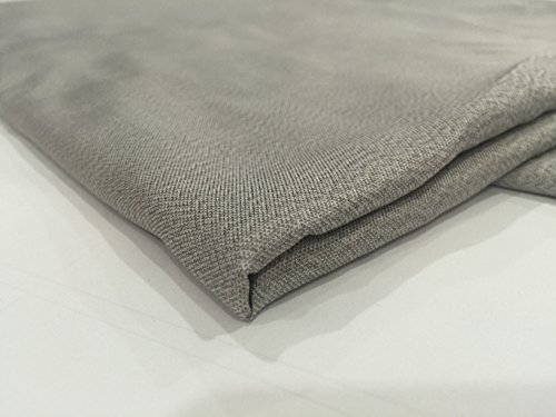 JWtextec 55% Silver Fiber Conductive Fabric Anti Radiation Shielding Fabric (57x39.37 Inches(1.45mX1m))