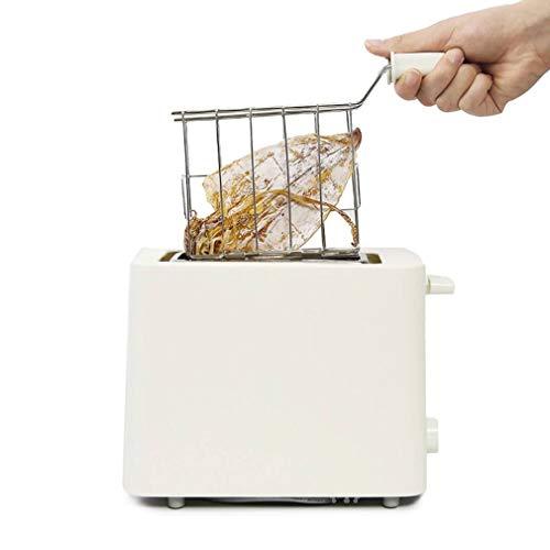 JIERTYU Tostadora, Tostadora Pequeña Sandwichera Tostadora 500W Máquina Automática Automática De Pan De Calentamiento Rápido Mini Tostadora Multifuncional Máquina para Hacer Pan
