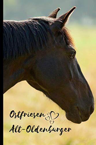 Ostfriesen Alt-Oldenburger Horse Notebook For Horse Lovers: Composition Notebook 6x9' Blank Lined Journal