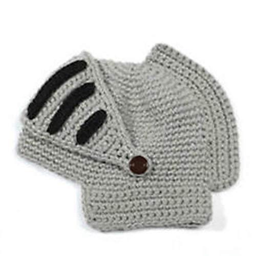Hiinice Romana de Cosplay Caballero Visera de Punto de Ganchillo Beanie Sombrero de Invierno Cara Cubierta de la Tapa Hombres Mujeres Gris