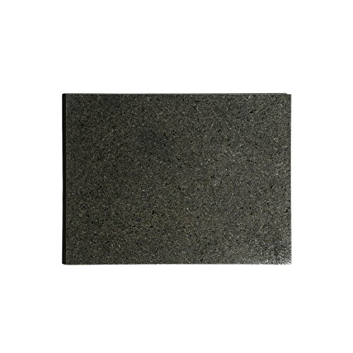 Kota Japan Premium Non-Stick Natural Black Granite Stone Pastry Cutting Board Slab 12' X 16' with No-Slip Rubber Feet for Stability and to Protect your Countertops | Easy to Clean | Stays Cool