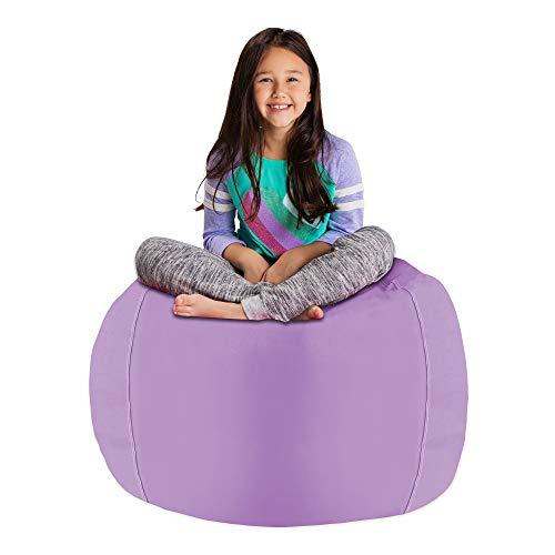 Posh Stuffable Kids Stuffed Animal Storage Bean Bag Chair Cover - Childrens Toy Organizer, Large 38' - Heather Lavender