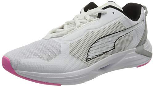 PUMA Minima Wns, Zapatillas para Correr de Carretera Mujer, Blanco White Black/Luminous Pink, 39 EU