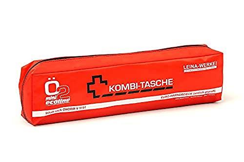 LEINAWERKE 33110 Mini-Kombitasche ÖNORM Ö2 Mini Ecoline schwarz - weiß/rot, mit Klett, 5 Stk.
