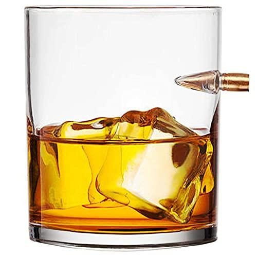 ZNEU Bicchieri di Whisky Glass,bicchieri di cristallo,Whisky Personalizzato - Bicchiere Di Birra Personalizzato,Bicchiere Di Vino Modello Bullet,Tumbler Basso regalo per uomo (#2)