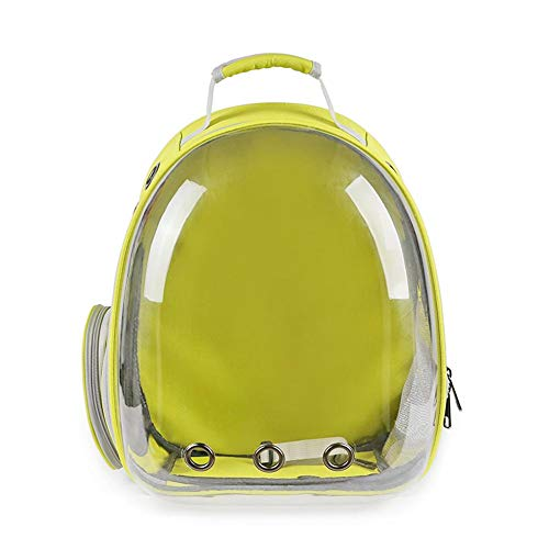 Portable Cat Carrier Bag Cat Carrying Backpack Window Astronaut Bag For Cats Puppy Backpack Carrier For Dogs Trave Bag Pet Supplies Dropshipping FENGNV1010 (Color : Yellow, Size : 42x31cm)