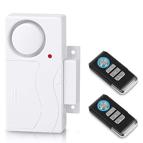 wsdcam Wireless Door Alarm Window and Door Open Alarm Magnetic Sensor Pool Door Alarms for Kids Safety Home Security, 110 dB Loud - Door Alarm with 2 Remotes