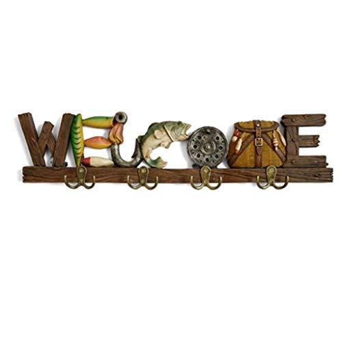 ZHICHUAN Baño Gancho Creativo Colgar de la Pared Decoración Gancho para Llavero Tienda de Ropa Inicio Porche Clave Ganchos de la Capa Gancho retro/A