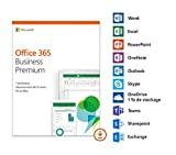 Microsoft Office 365 Business Premium | 1 utilisateur | 5 PC (Windows 10) ou Mac + 5 tablettes + 5...