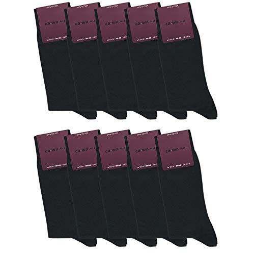 ca·wa·so Damen Socken aus 100% Baumwolle (10er-Pack) (39-42, schwarz)