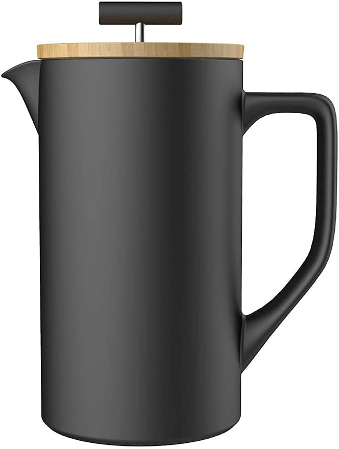 Farabica French Press Ceramic Coffee Maker with Very popular Year-end gift Natural Tea and
