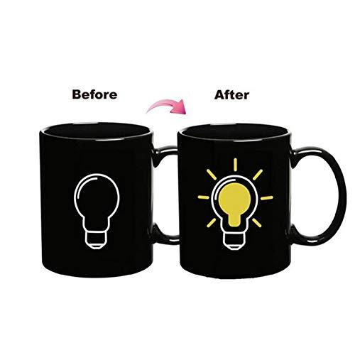 AICUP Kreative Glühbirne Temperatur Ändernde Tasse Farbwechsel Chamäleon Tassen Wärmeempfindliche Tasse Kaffee Milch Becher Gute Geschenke