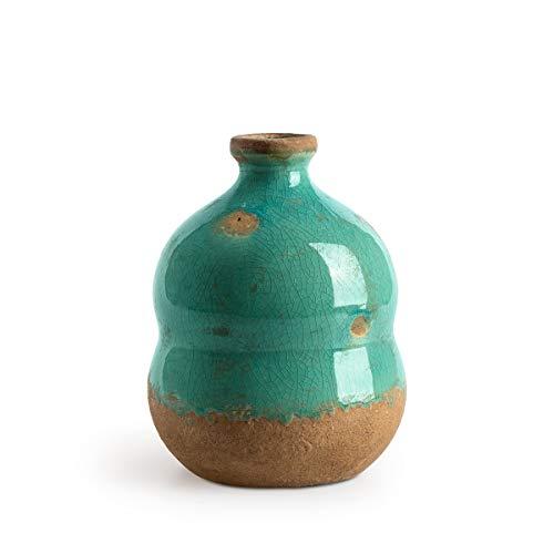 Black Velvet Studio Decorativo Vaso in Ceramica Cántaro Botijo ??Colore Grigio - Moderno Vaso Vintage per la casa Ufficio Sala Modello Botijos 14 * 10 * 10cm