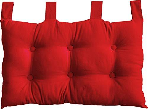 Enjoy Home 2007CHTL070045 - Testiera da Letto in Tessuto, 70 x 9 x 45 cm, Tessuto, Rosso, 9 X 45 CM