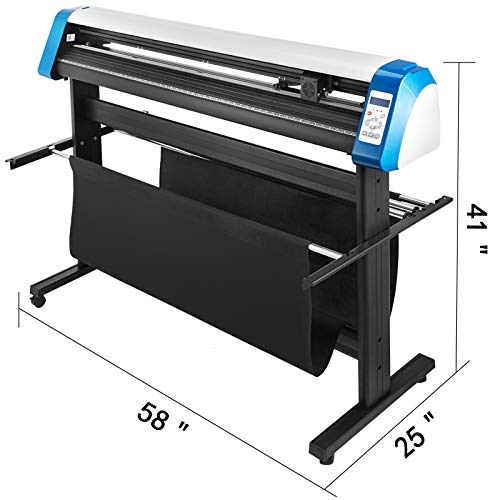 VEVOR Vinyl Cutter 53 Inch Vinyl Cutter Machine Semi-Automatic DIY Vinyl Printer Cutter Machine Manual Positioning Sign Cutting with Floor Stand Signmaster Software Photo #2