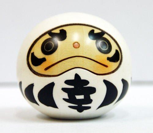 Usaburo Kokeshi muñeca Japonesa de Madera 9-113-1 Happy Daruma Blanco