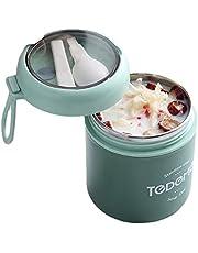 真空断熱スープジャー 保温弁当箱 ステンレスクック&フードジャー スプーン付き 500ml 緑