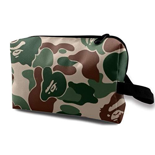 Travel Makeup Storage Bag- Portable Toiletry Handbag Small Cosmetic Organizer Pouch for Women & Men- Aniaml Camouflag