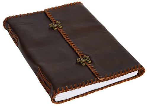 Buch Notizbuch Skizzenbuch Gästebuch Tagebuch DIN A4 Braun Leder