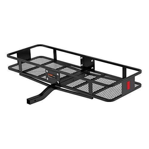 CURT 18150 60 x 20-Inch Basket Hitch Cargo Carrier, 500 lbs Capacity, Black Steel, 2-in Fixed Shank