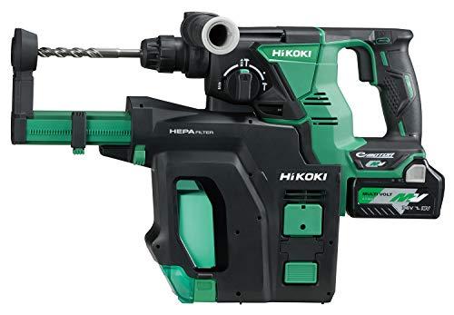 HiKOKI(ハイコーキ) 旧日立工機 コードレスロータリハンマドリル 36V マルチボルト 充電式 集じんシステム搭載 リチウムイオン電池、充電器、予備電池付※蓄電池保証書、純正ケース付 DH36DPB(2XP)